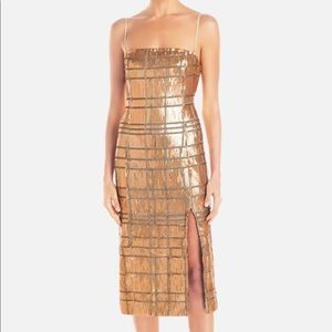 Misha collection sequin midi dress